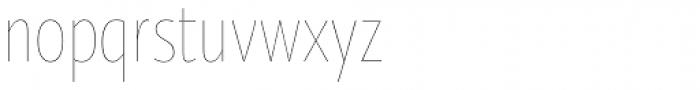 Oksana Sans Condensed Thin Font LOWERCASE