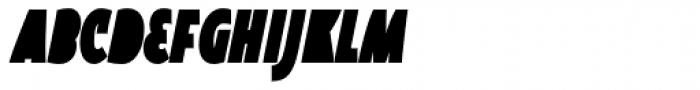 Oksana Sans Fat Compressed Italic Font UPPERCASE