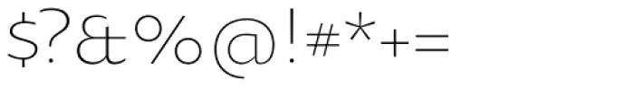 Oksana Sans Light Font OTHER CHARS
