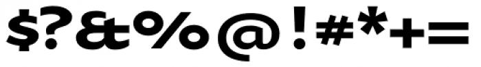 Oksana Sans Wide Bold Font OTHER CHARS