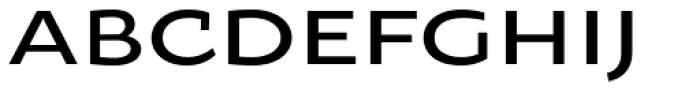 Oksana Sans Wide DemiBold Font UPPERCASE