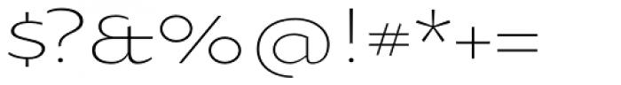 Oksana Sans Wide Light Font OTHER CHARS
