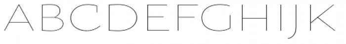 Oksana Sans Wide Thin Font UPPERCASE