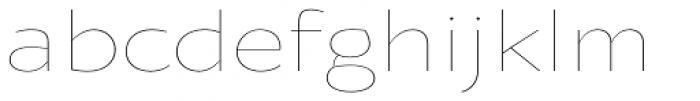 Oksana Sans Wide Thin Font LOWERCASE