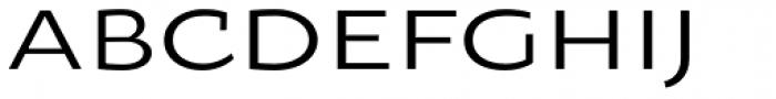 Oksana Sans Wide Font UPPERCASE