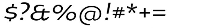 Oksana Std Demi Bold Italic Font OTHER CHARS