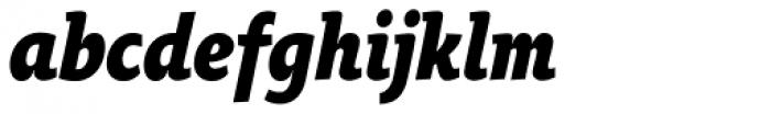 Oksana Text Narrow Heavy Italic Font LOWERCASE