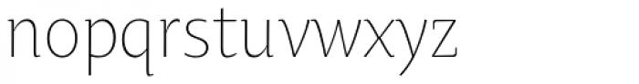 Oksana Text Narrow Light Font LOWERCASE