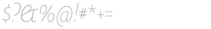 Oksana Text Narrow Thin Italic Font OTHER CHARS