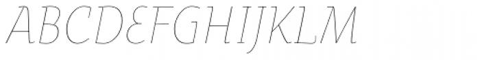 Oksana Text Narrow Thin Italic Font UPPERCASE