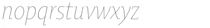 Oksana Text Narrow Thin Italic Font LOWERCASE