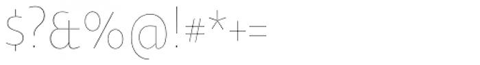 Oksana Text Narrow Thin Font OTHER CHARS