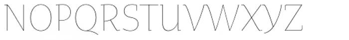 Oksana Text Narrow Thin Font UPPERCASE