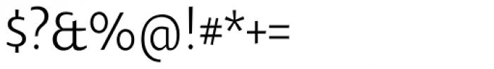 Oksana Text Narrow Font OTHER CHARS