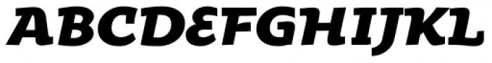 Oksana Text Std Heavy Italic Font UPPERCASE