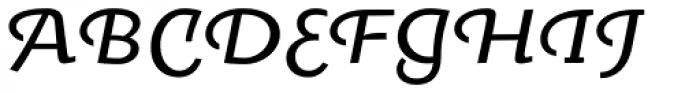 Oksana Text Swash Demi Bold Italic Font UPPERCASE