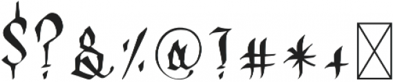 OLDEST ENGLISH Regular otf (400) Font OTHER CHARS