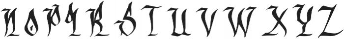 OLDEST ENGLISH Regular otf (400) Font UPPERCASE