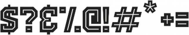 Old School United Inline Alt ttf (400) Font OTHER CHARS