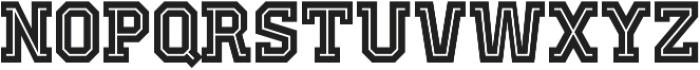 Old School United Inline Alt ttf (400) Font LOWERCASE