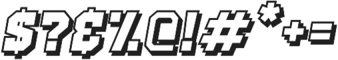 Old School United Shadow Italic ttf (400) Font OTHER CHARS
