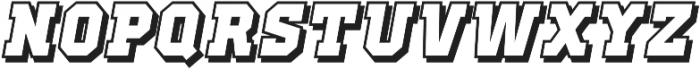 Old School United Shadow Italic ttf (400) Font LOWERCASE