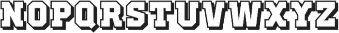 Old School United Shadow ttf (400) Font UPPERCASE