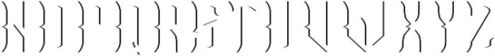 OldCask Shadow otf (400) Font UPPERCASE