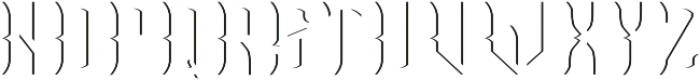 OldCask Shadow otf (400) Font LOWERCASE