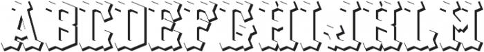 OldLogger ShadowFX otf (400) Font UPPERCASE