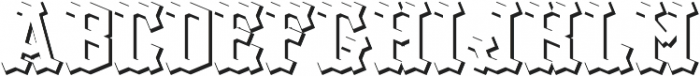 OldLogger ShadowFX otf (400) Font LOWERCASE