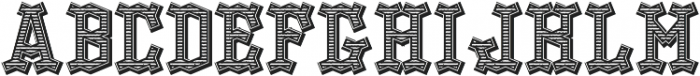 OldLogger TextureAndShadow otf (400) Font UPPERCASE