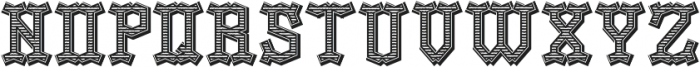 OldLogger TextureAndShadow otf (400) Font LOWERCASE