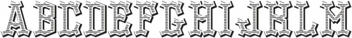 OldLogger TextureAndShadowFX otf (400) Font UPPERCASE
