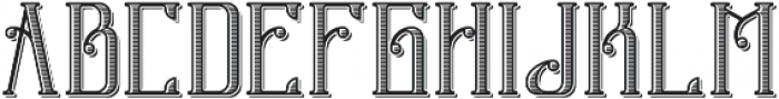 OldStyle Shadow and Texture otf (400) Font LOWERCASE