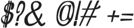Oldiez italic sans otf (400) Font OTHER CHARS