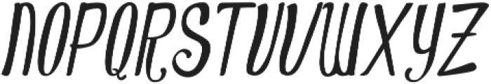 Oldiez italic sans otf (400) Font UPPERCASE