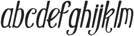 Oldiez italic sans otf (400) Font LOWERCASE