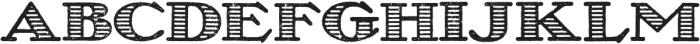 Olechstripes Regular otf (400) Font UPPERCASE