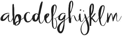 Oleisia Script Regular otf (400) Font LOWERCASE