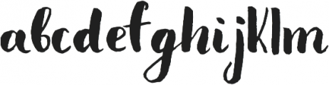 Olesna Regular otf (400) Font LOWERCASE