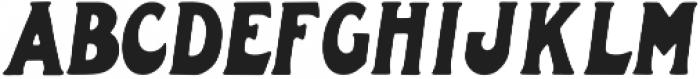Oligarchy Slanted otf (400) Font LOWERCASE