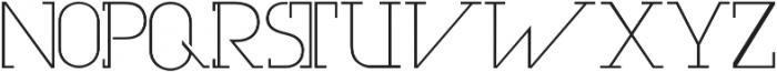 Olim Futura otf (300) Font UPPERCASE