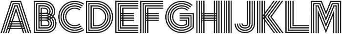 Olio Inline ttf (400) Font UPPERCASE