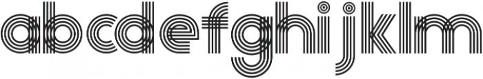 Olio Inline ttf (400) Font LOWERCASE
