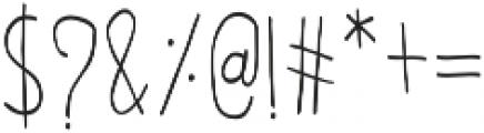 Olive otf (400) Font OTHER CHARS