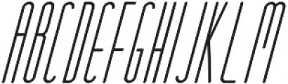 Oliver Italic otf (400) Font UPPERCASE