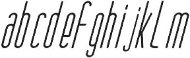 Oliver Italic otf (400) Font LOWERCASE
