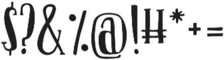 Oliver otf (400) Font OTHER CHARS