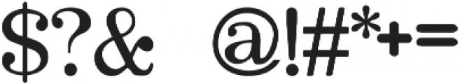 OlivettiTypewriter Regular ttf (400) Font OTHER CHARS